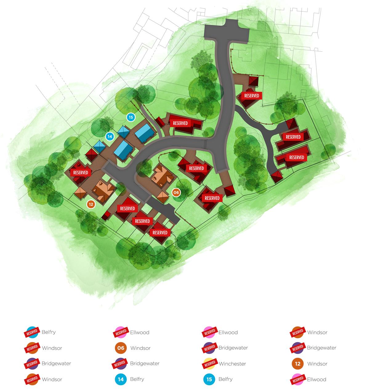 Pinfold Place Sitemap